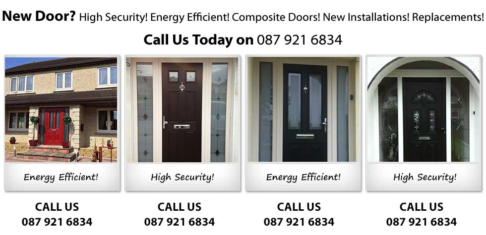 We fit High Security and Energy Efficient Aluminium and PVC Doors in Dublin City and County and Surrounding Areas in Leinster. Also, door repairs in Ballyfermot, Clondalkin, Tallaght, Lucan, Blanchardstown, Rathfarnham, Castleknock. Need a New Door? We supply and install High Security, Energy Efficient, Composite Doors, New Installations doors and Replacement doors in Dublin and Leinster. Call Us Today on 0879216834.