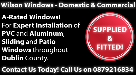 Expert Installation of PVC and Aluminium Windows, Sliding and Patio Doors, Locks, Letterboxes and Coloured Splashbacks throughout Dublin